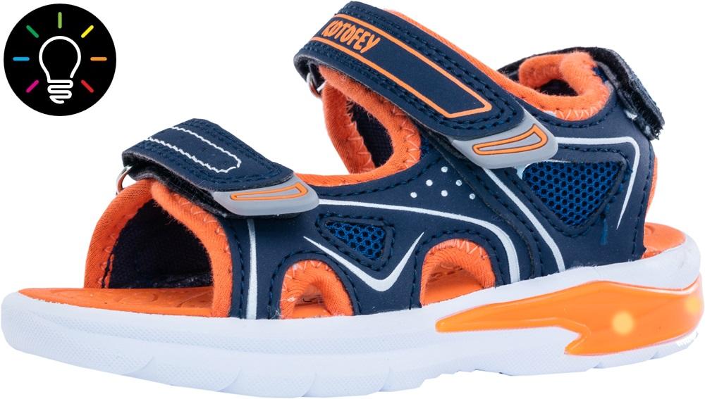 Босоножки Котофей 324008-12 сине-оранжевый