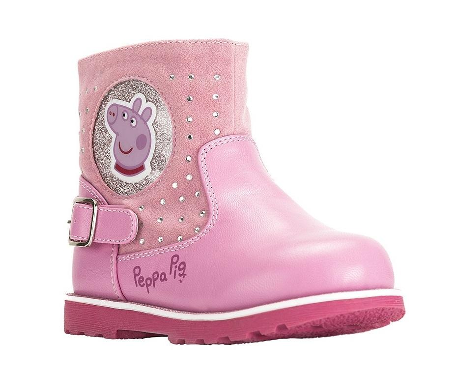 """Полусапожки утепл. CROSSWAY """"PEPPA PIG"""" 6287C розовый"""